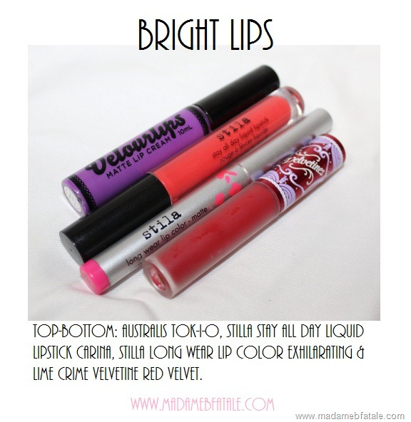 bright lips for summer matte